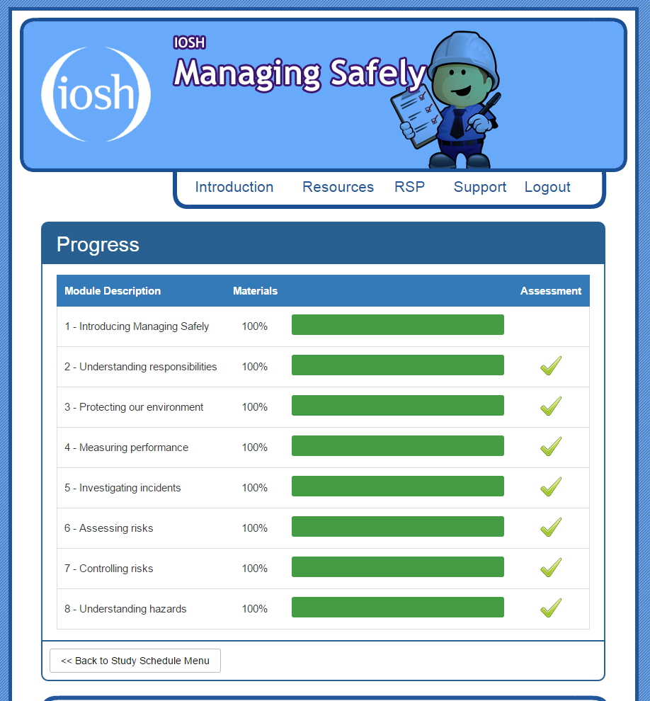IOSH Managing Safely Exam Questions